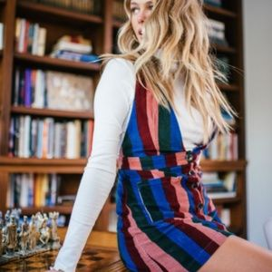 SHOW ME YOUR MUMU Connelly Overall Dress Striped